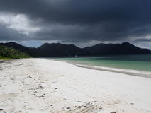 Storm on the Praslin island. Seychelles Royalty Free Stock Images