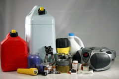 Storm preperation supplies stock image