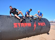 Storm Race Gijon. Stock Photo