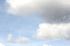 After the storm, rain droplets in a window Royalty Free Stock Photo