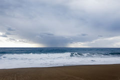 Storm and Rain over sea Royalty Free Stock Images