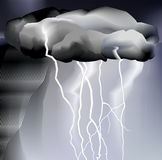 Storm and rain, weather Stock Image