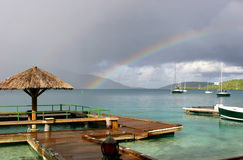 After Storm Reward. It's beautiful even when it rains in the British Virgin Islands! Bitter End resort Stock Images