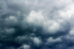 Storm rises. Heaven covered with big dark clouds Stock Photography