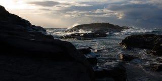 Storm rock coast Stock Image