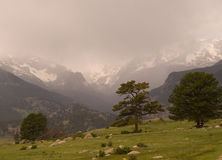Storm in the Rocky Mountains Royalty Free Stock Images
