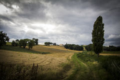 Storm on rural italian area Royalty Free Stock Photography