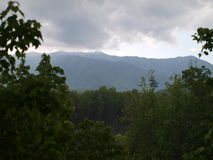 Storm comming to mountain Stock Images