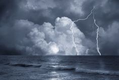 Storm on sea Stock Photography
