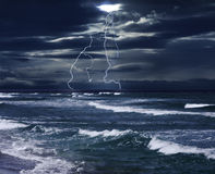 Storm and The Sea Royalty Free Stock Image