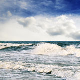Storm in sea Stock Photo