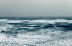 Storm at sea. Stormy day in mediterranean sea. Israel Stock Image
