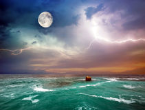 Storm on the sea. Composition of nature Royalty Free Stock Photography