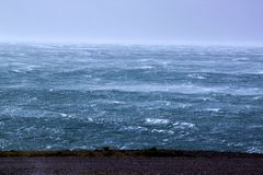 Storm & sea Stock Photography