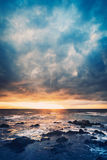 Storm on the Sea. Ocean Storm at Sunset Stock Photos
