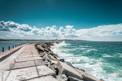 Storm and The Sea Royalty Free Stock Photos