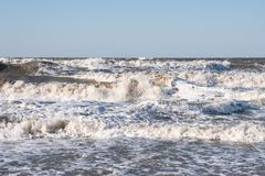 Storm on the sea of Azov. Royalty Free Stock Photo