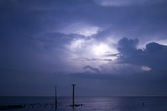 Storm in the sea Royalty Free Stock Photo