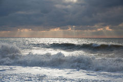 Storm in the sea Royalty Free Stock Photos