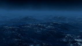Storm on the sea. 3d render. Nature royalty free illustration