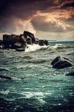 Storm at the sea Royalty Free Stock Photos