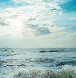 Storm sea and dramatic sky Royalty Free Stock Photos
