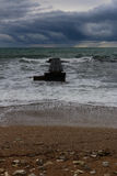 Storm on the sea. By the sea gale and storm Stock Images