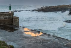 Temporary in the sea of the Galician coasts Stock Photo