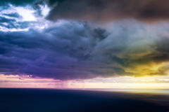 Storm on Sea with Heavy Clouds. Stock Images