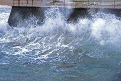 Storm on sea Stock Photo
