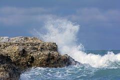 Storm on sea Royalty Free Stock Photos