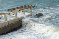 Storm on sea Royalty Free Stock Images