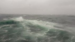 A storm in the sea, ocean wave in the indian ocean during storm. Ocean wave in the indian ocean during storm stock footage