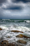 Storm on the sea after a rain Stock Images