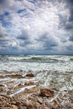 Storm on the sea after a rain Stock Photos