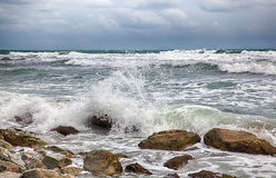 Storm on the sea after a rain Royalty Free Stock Photography