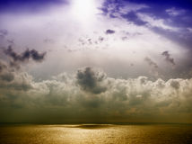 Storm on the sea after a rain Royalty Free Stock Photo