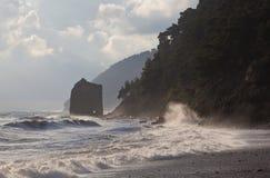 Storm at Sea Sail Rock Royalty Free Stock Photo