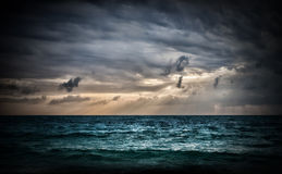 Storm on the sea stock image