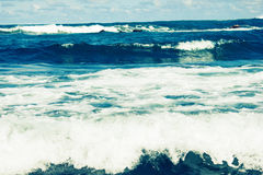 Storm sea waves royalty free stock image