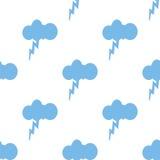 Storm seamless pattern Stock Photos