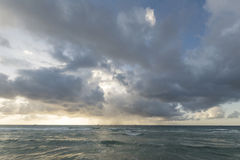 storm seascape in sunset Royalty Free Stock Photos