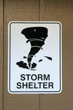 Storm shelter sign Royalty Free Stock Image