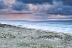 Storm and showers over North sea Royalty Free Stock Photos