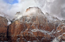 Storm Shrouded Peak Royalty Free Stock Photography