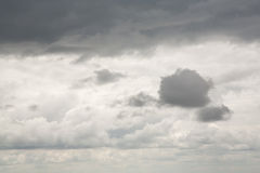 Storm sky and heavy clouds stock photography