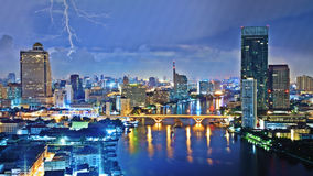 Storm sky over city Royalty Free Stock Images