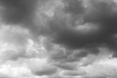 Storm sky, rainy clouds. Royalty Free Stock Photo