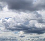 Storm sky, rainy clouds over horizon Royalty Free Stock Photography