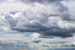 Storm sky, rainy clouds over horizon Stock Photo